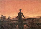 Woman in the Setting Sun