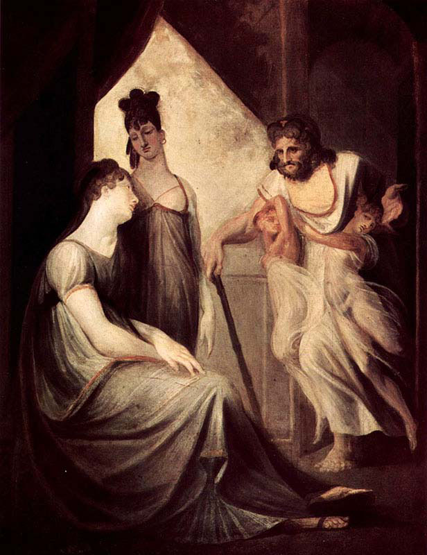 Thetis asks Hephaestus to Forge an Armor for her Son Achilles
