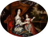 Charlotte Lee Countess of Lichfield Daughter of Charles II and Barbara Villiers with her Mother