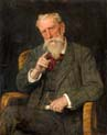 man in a cane chair by Eduard von Gebhardt