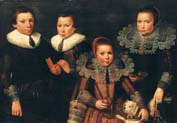 family portrait of two brothers and two sisters
