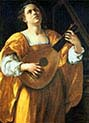 Saint Cecilia Playing a Lute