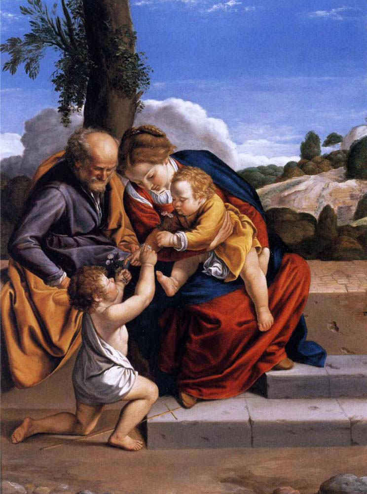 holy family with the infant saint john the baptist