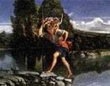 landscape with saint christopher