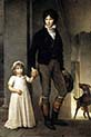 Jean-Baptist Isabey Miniaturist with his Daughter