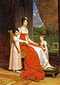 Marie-Julie Bonaparte Queen of Spain with Her Two Daughters Charlotte and Zenaide Bonaparte