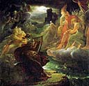 Ossian on the Bank of the Lora Invoking the Gods to the Strains of a Harp