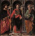 Saint Stefano with Saints James and Peter