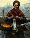 Jewish Woman Selling Oranges