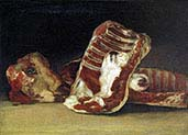 Still life with Head of Lamb and Ribs