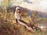Peasant Woman Sitting in the Grass