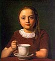 Girl-Elise Kobke-With a Cup