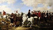 John Poyntz Fifth Earl Spencer with the Ward Union Hunt