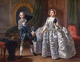 David Garrick and Mrs Pritchard in Benjamin Hoadley's-The Suspicious Husband