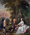 Jonathan Tyers with His Daughter Elizabeth and Her Husband John Wood