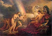 Venus Supported by Iris Complaining to Mars
