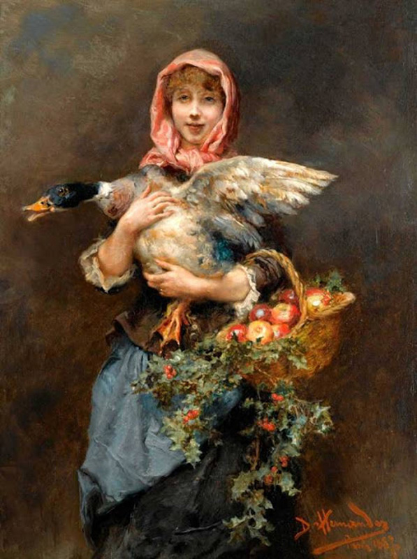 girl with duck