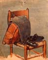 pocket harness and shoes on the chair