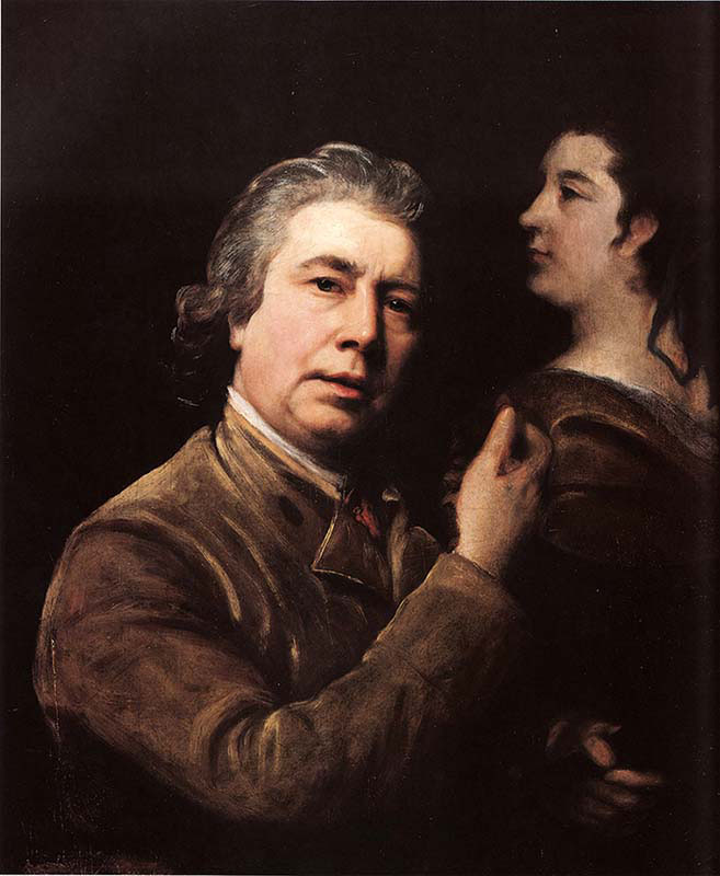 Self-Portrait with Image of his Wife