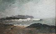 Coastal Scene with Breaking Waves