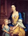 Lady Elizabeth Tynte with her Son James