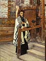 Reading Rabbi in the Vorhofe of the Temple
