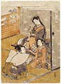 Young Woman with Youth and Young Attendant Taifu from Furyu Jinrin Juniso