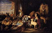 Isaac Amburg and his Animals