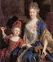 Catherine Coustard with her daughter Leonor