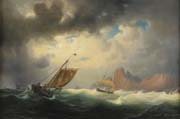 ship on stormy sea