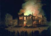 The Burning of the Parliment Buildings Montreal