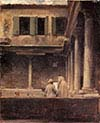 Actaea-An Artist Sketching in the Cloister of Saint Gregorio-Venice
