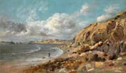 coast scene at cullercoats near whitley bay