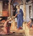 annunciation with two kneeling donors by Filippo Lippi