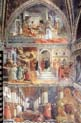 fresco cycle in the prato cathedral view of the left north wall of the main chapel by Filippo Lippi