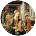madonna with the child and scenes from the life of saint anne
