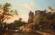 landscape with castle of harlech