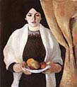 The Artist's Wife with Apples
