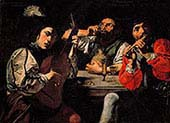 Musicians and Man Drinking