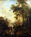 Landscape with a Waterfall and Cattle