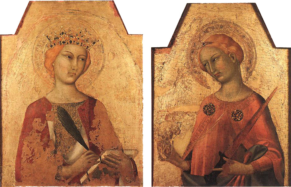 saint catherine and saint lucy