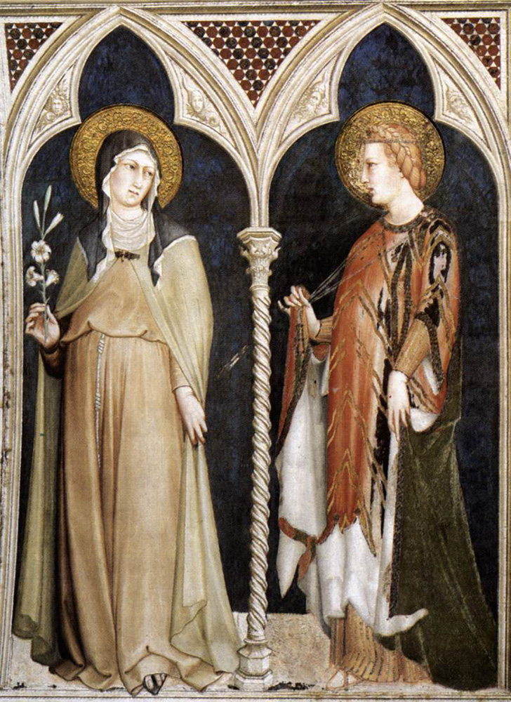 saint clare and saint elizabeth of hungary