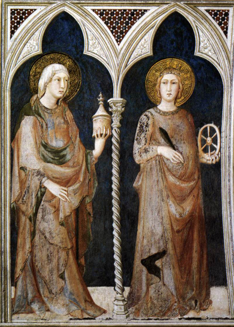 saint mary magdalen and saint catherine of alexandria