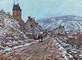 Road to Vetheuil in Winter