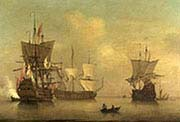 Three English Flagships Becalmed