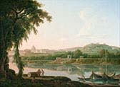 View of Rome Across the Tiber