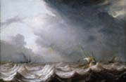 vessels at sea in stormy weather
