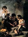 Three Boys Playing Dice
