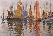 Sailing Boats in Concarneau Harbour