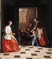Street Musicians at the Doorway
